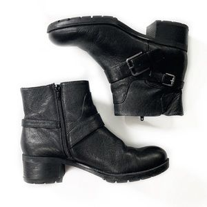Nine West • Leather Motorcycle Boots